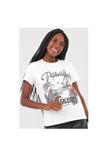 Camiseta Colcci Paraíso Brasileiro Off-White