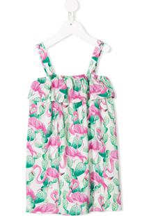 Mc2 Saint Barth Kids Vestido Com Estampa De Flamingo - Verde