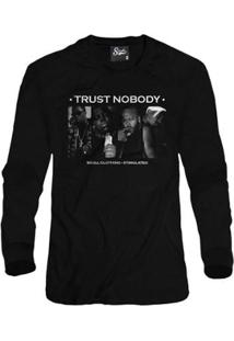 Casaco Moletom Skull Clothing Trust Nobody Masculino - Masculino-Preto