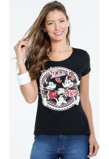 Blusa Feminina Estampa Mickey Minnie Disney