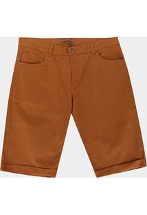 Bermuda Sarja Preston Plus Size Masculina - Masculino-Caramelo