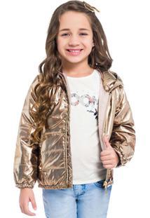Jaqueta Feminina Dourado