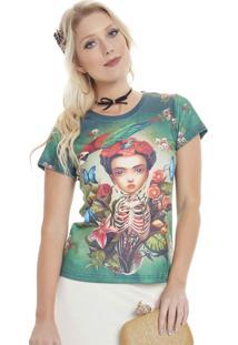 Camiseta Seven Days T-Shirt Frida Caveirinhas Ver