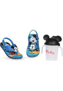 Sandália Infantil Mickey Azul Azul