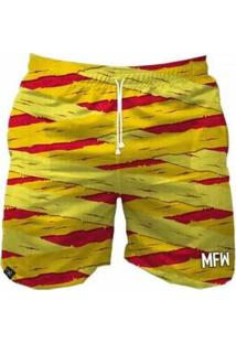 Bermuda Maromba Fight Wear Múmia Masculina - Masculino-Amarelo