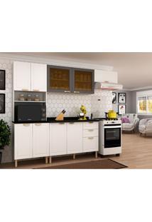 Cozinha Compacta Nevada Ii 9 Pt 3 Gv Branca E Grafite