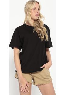 Camiseta Com Botões- Preta- Colccicolcci