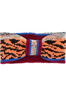 Missoni Headband De Tricô Com Listras - Vermelho