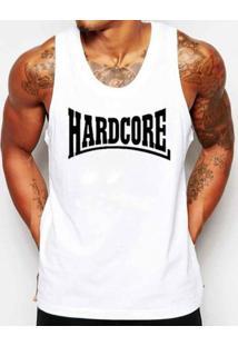 Camiseta Regata Criativa Urbana Frases Hardcore Academia - Masculino-Branco
