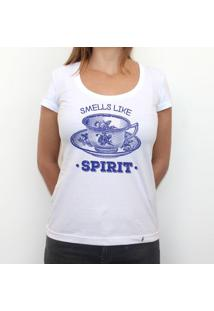 Smells Like Tea Spirit - Camiseta Clássica Feminina