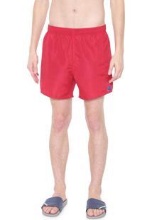 Bermuda Água Calvin Klein Quadrada Liso Vermelho