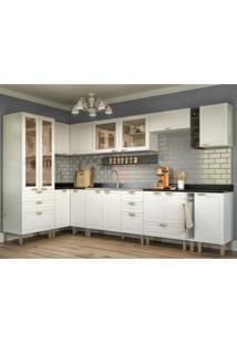 Cozinha Completa 12 Peças Americana Multimóveis 5647 Branco/Grafite