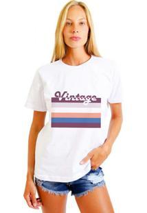 Camiseta Joss Feminina Vintage Branco
