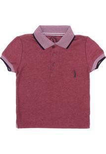Camisa Polo Aleatory Vinho infantil  a69f3a8e77782