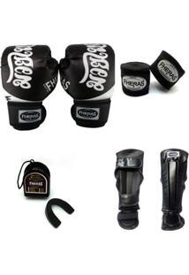46b611cc7 Kit Muay Thai Top - Luva Caneleira Bandagem Bucal - Unissex