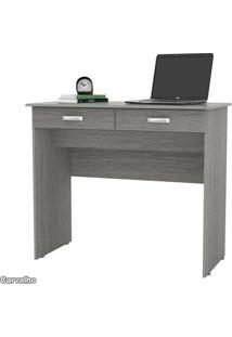 Escrivaninha Para Laptop Computador 02 Gavetas Ej Móveis Na Cor Carvalho Bianco