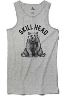 Regata Skill Head Urso Pardo Masculina - Masculino-Cinza 260e01e2a2a