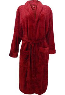 Roupão Adulto Feminino De Microfibra Flannel - Lady - Appel - Lady - Rouge
