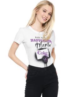 Camiseta Coca-Cola Jeans Happiness Branca