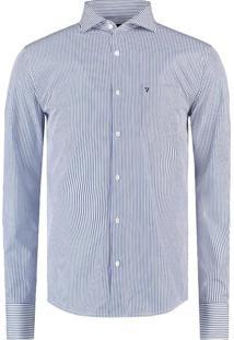 Camisa Vr Listrada Ft Ml Azul