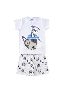 Pijama Infantil Bicho Bagunça Dog Brilha Escuro