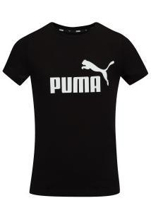 Camiseta Puma Essentials Tee Feminina - Infantil - Preto