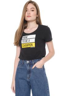 Camiseta Calvin Klein Jeans Champion Preta - Kanui
