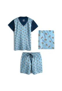 Pijama Infantil Lupo Mickey 23182-001 2020-Azul 8