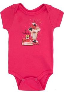 Body Em Suedine Up Baby Torta E Sundae - Feminino-Pink