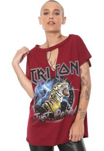 Camiseta Triton Just Rebel Vinho