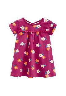 Vestido Infantil Em Cotton Flores Kyly