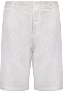 Bermuda Masculina Alfaiataria E-Fabrics - Bege