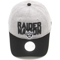 d1396e2527fc6 Boné New Era Oakland Raiders Nfl Cinza