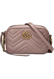fc0303a7a Gucci Bolsa Mini 'Gg Marmont' Matelassê - Rosa