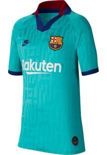 Camisa Infantil Nike Barcelona 3 2019/20 Torcedor Verde - M