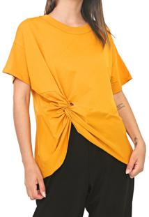 Camiseta Colcci Nó Amarela - Kanui