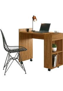Mesa Para Computador Alessa 2 Amêndoa