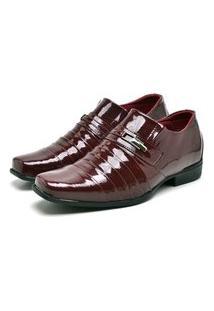 Sapato Social Masculino Mb Outlet Verniz Vermelho Exclusivo