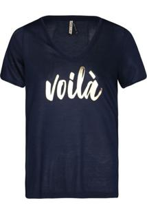 Camisetas Khelf Camiseta Feminina Voilà Azul Marinho