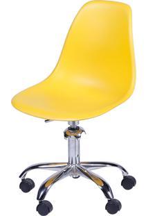 Cadeira Eames Dkr Rodízio Amarelo Or Design