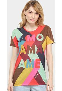 Camiseta Cantão Ame Feminina - Feminino-Vermelho