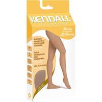 8896a76b4 Meia-Calça Kendall Alta Compressão Feminina - Feminino-Marrom+Branco