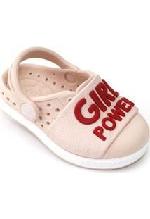 Babuche Bebê Joy Girl Power Plugt Feminino - Feminino-Rosa