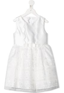 Abel & Lula Vestido De Renda Wave - Branco