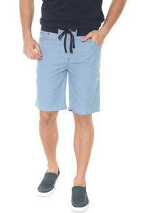Bermuda Jeans Timberland Reta Stripes Azul