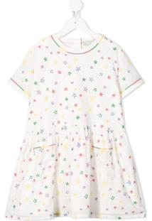 Stella Mccartney Kids Vestido Com Estampa De Estrela - Branco