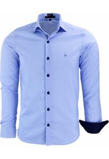 Camisa Social Amil Tecido Misto 1652 Azul Bebê