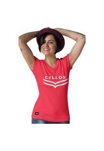 Camiseta Feminina Gola V Cellos Dawn Premium W Vermelho