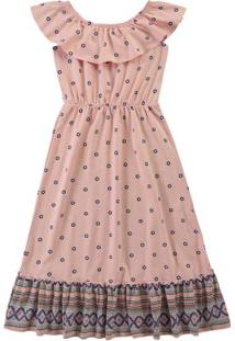 Vestido Rosê Ciganinha Longo