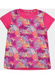 Camiseta Infantil Asics W Bounder Tee Feminina - Feminino-Pink